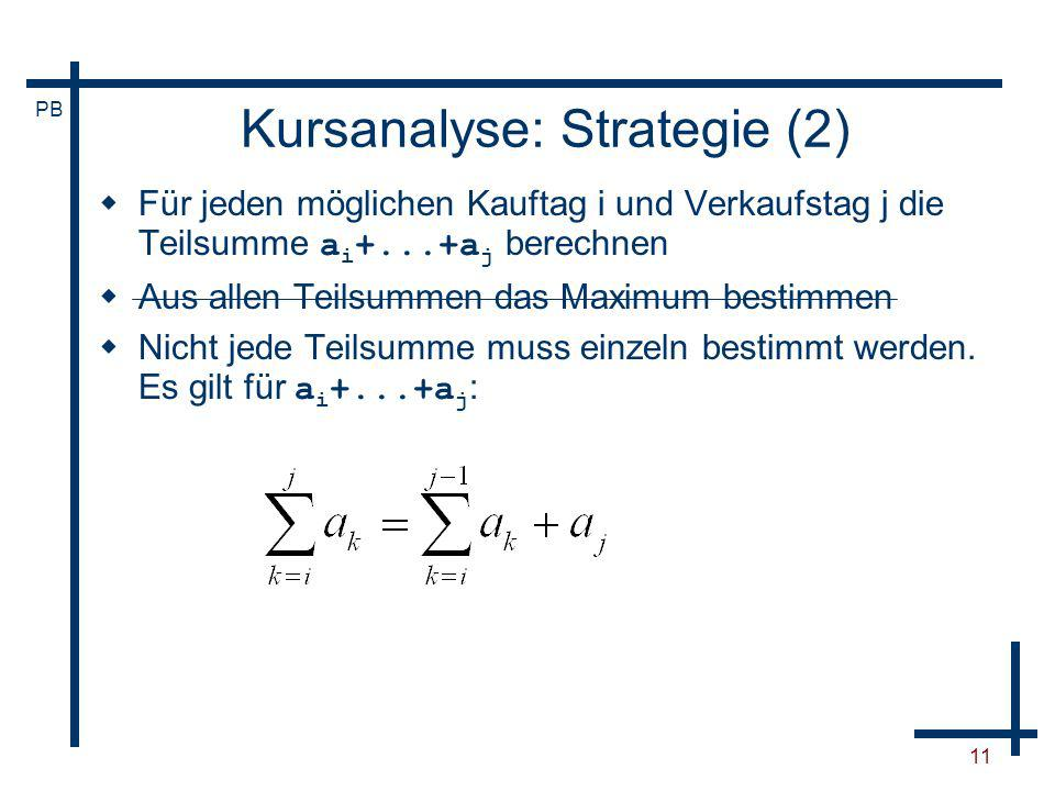 Kursanalyse: Strategie (2)