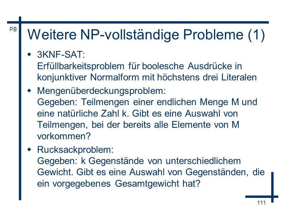 Weitere NP-vollständige Probleme (1)