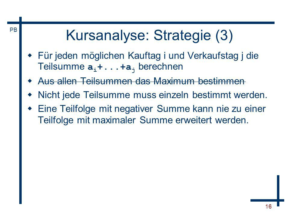 Kursanalyse: Strategie (3)