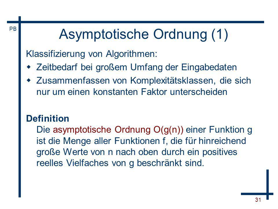 Asymptotische Ordnung (1)