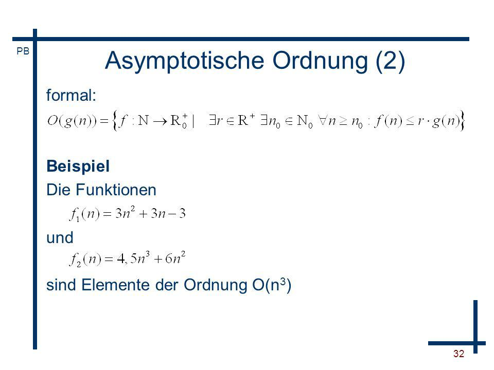 Asymptotische Ordnung (2)