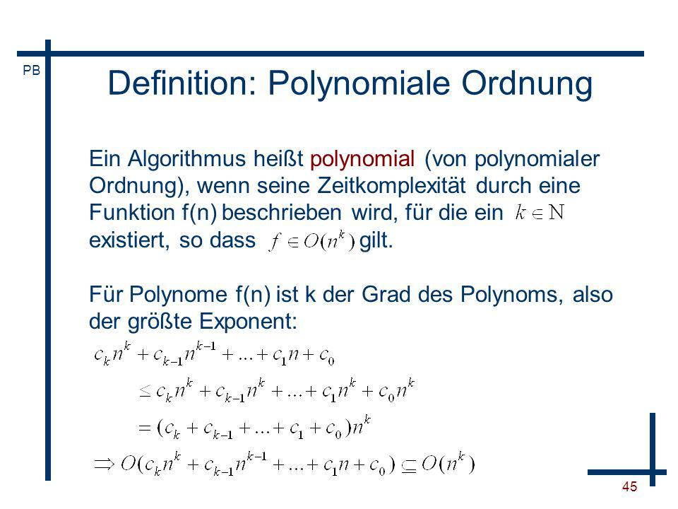 Definition: Polynomiale Ordnung