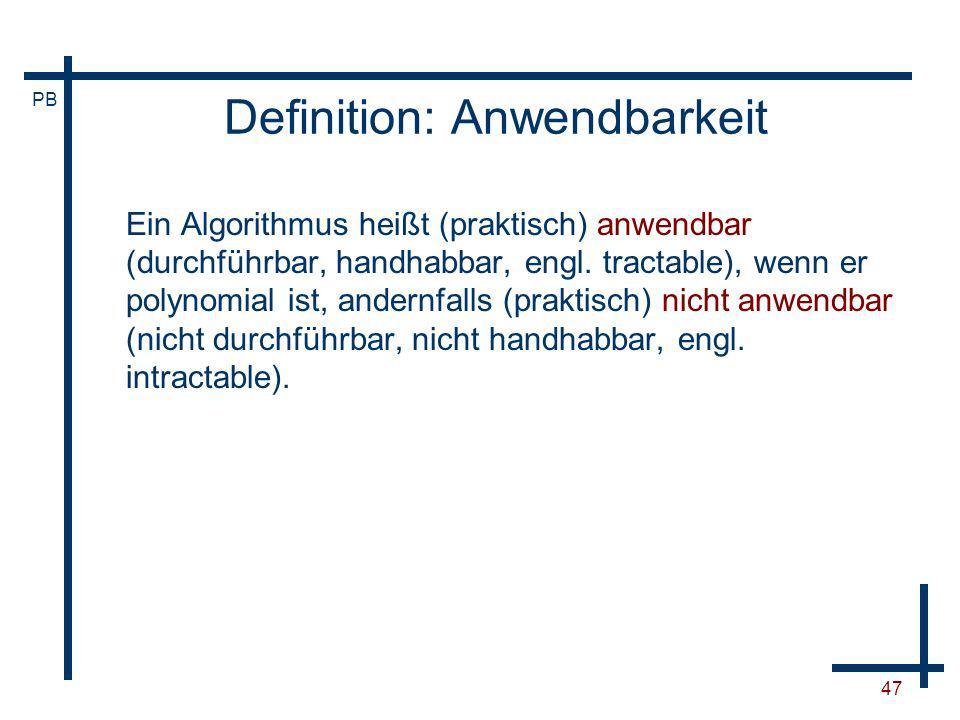 Definition: Anwendbarkeit