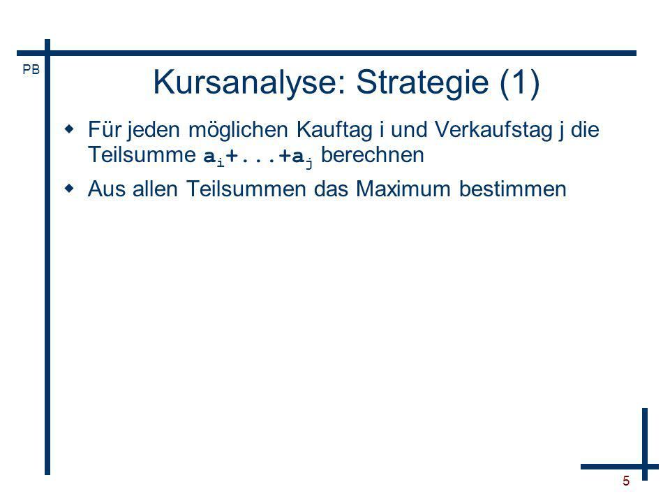 Kursanalyse: Strategie (1)
