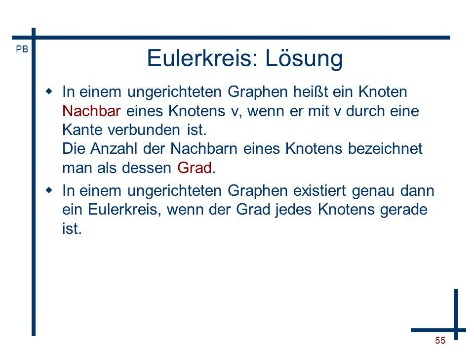 Eulerkreis: Lösung