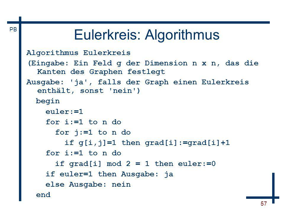 Eulerkreis: Algorithmus