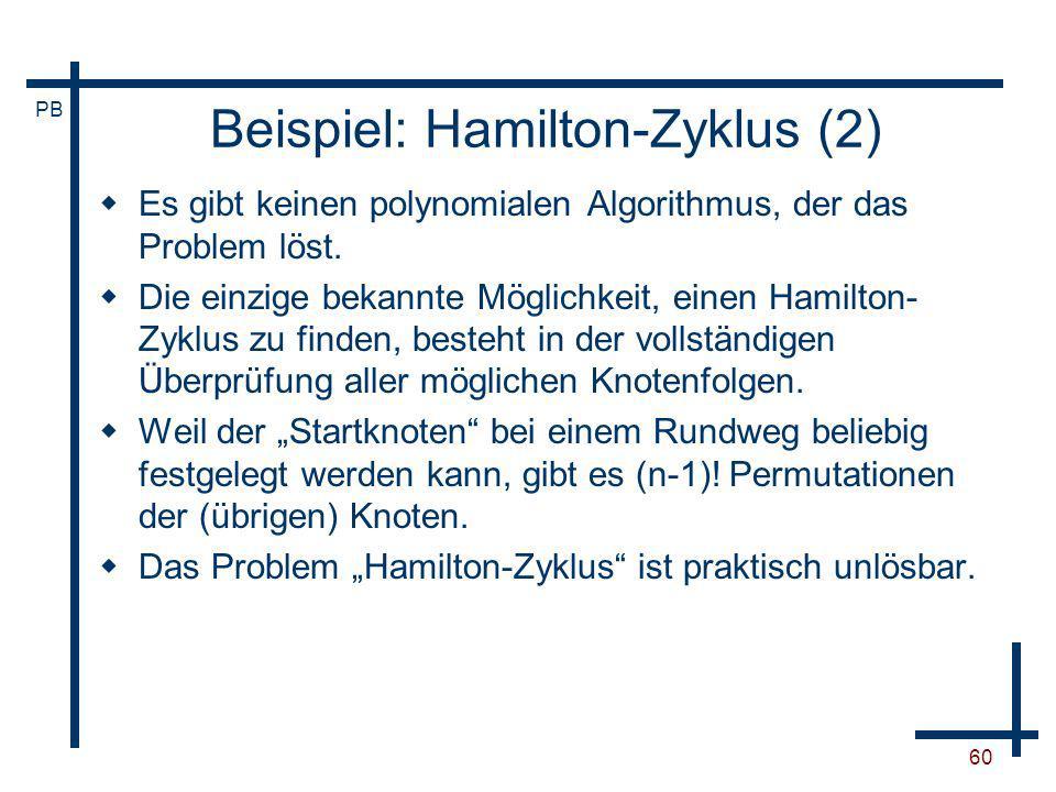 Beispiel: Hamilton-Zyklus (2)