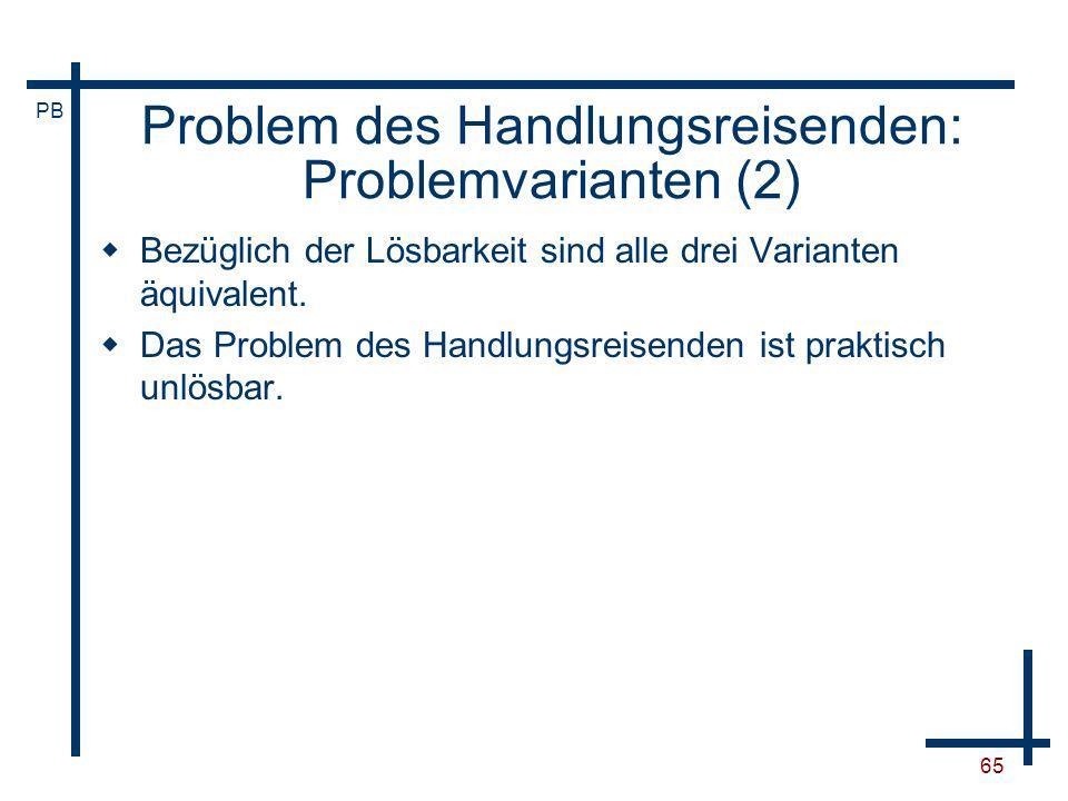 Problem des Handlungsreisenden: Problemvarianten (2)