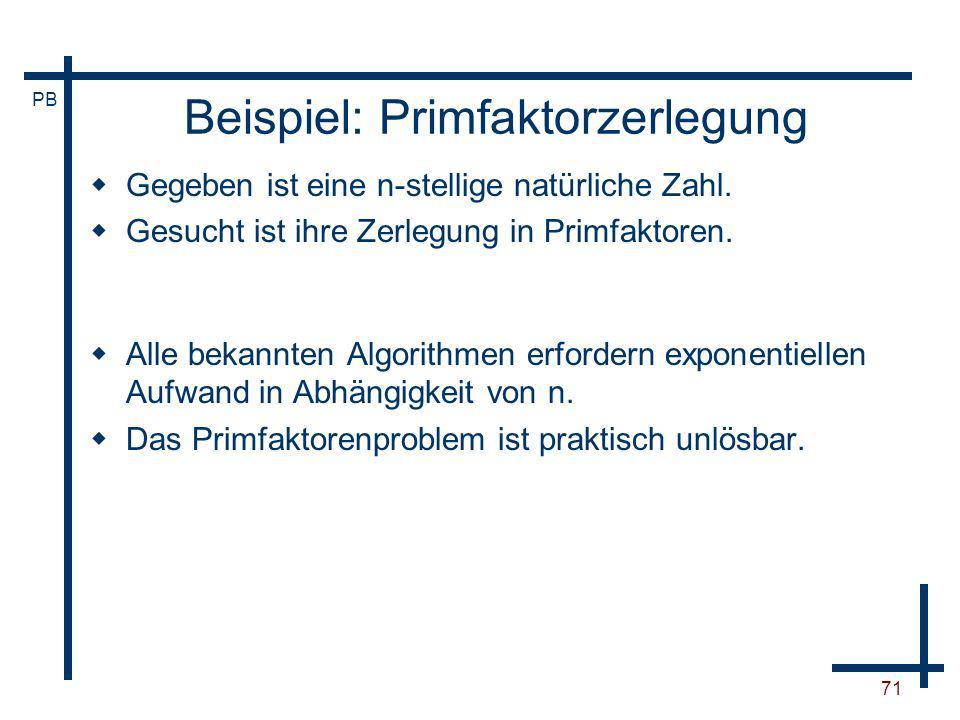 Beispiel: Primfaktorzerlegung