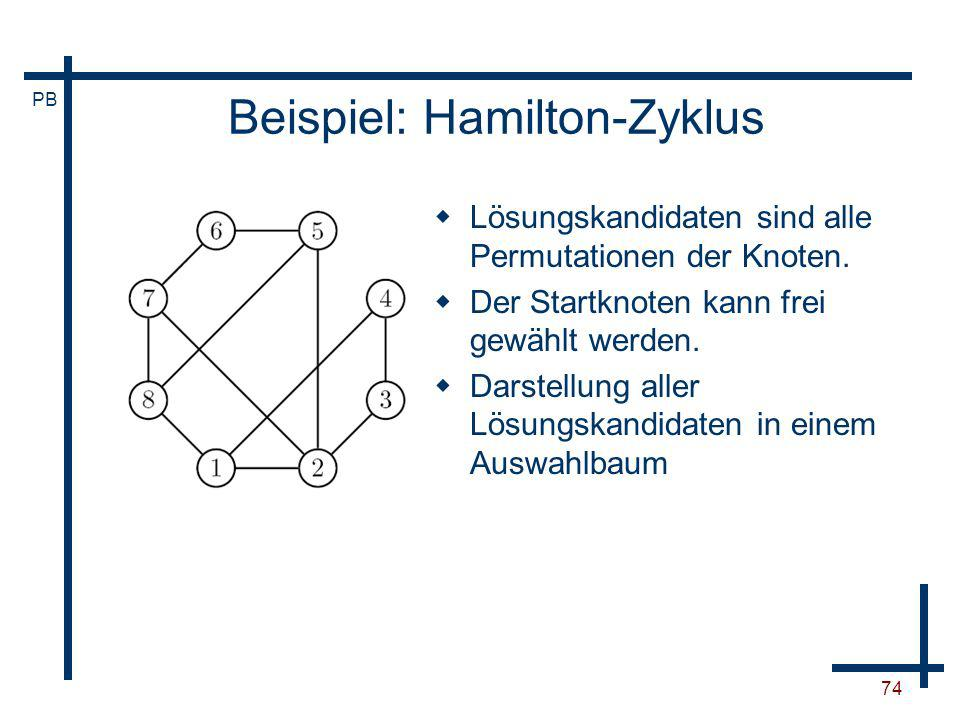 Beispiel: Hamilton-Zyklus