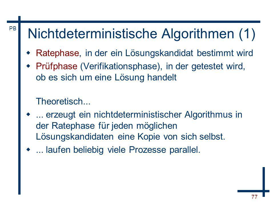 Nichtdeterministische Algorithmen (1)