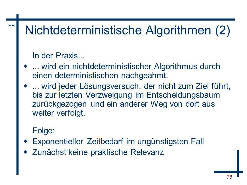 Nichtdeterministische Algorithmen (2)