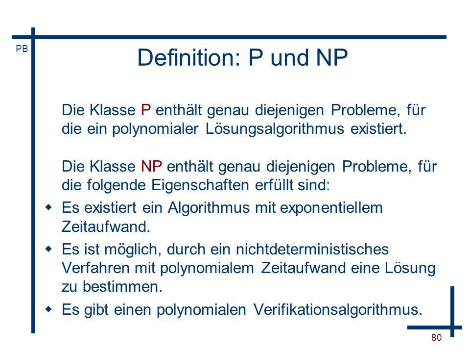 Definition: P und NP