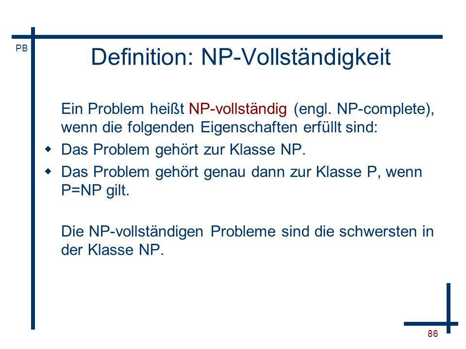 Definition: NP-Vollständigkeit