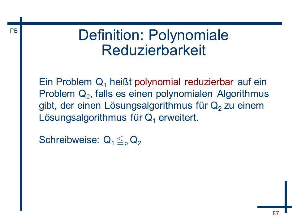 Definition: Polynomiale Reduzierbarkeit
