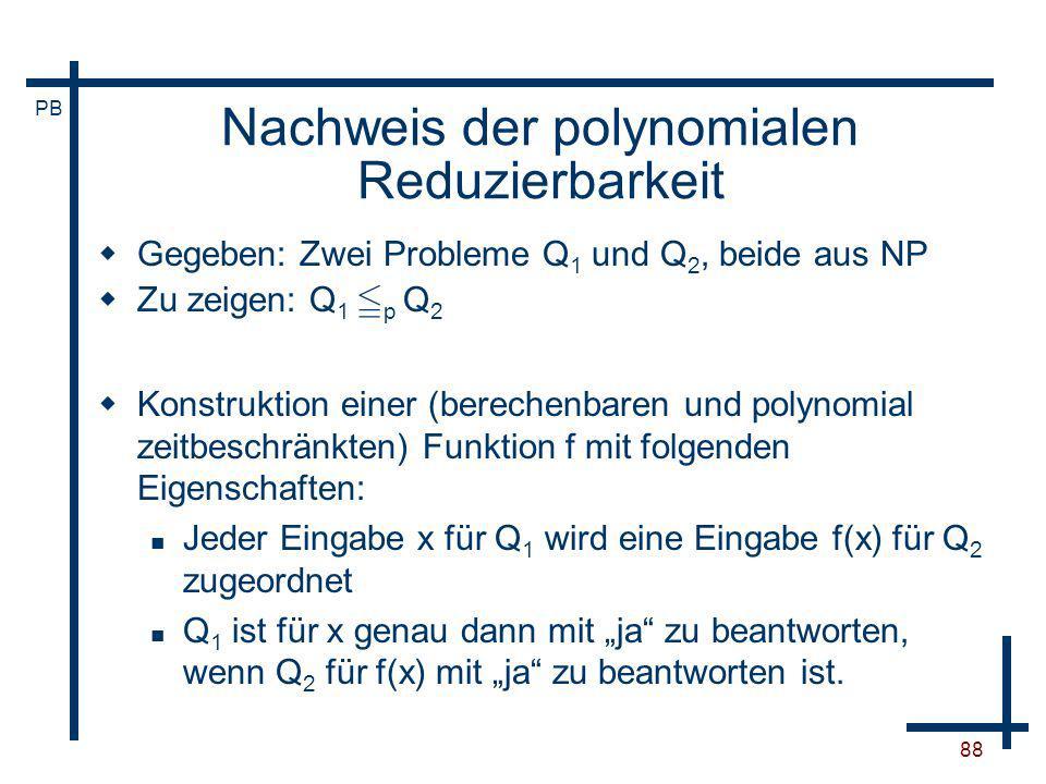 Nachweis der polynomialen Reduzierbarkeit