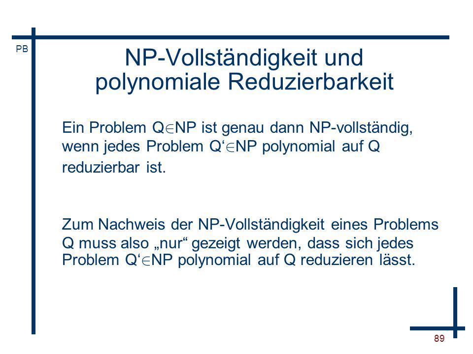 NP-Vollständigkeit und polynomiale Reduzierbarkeit