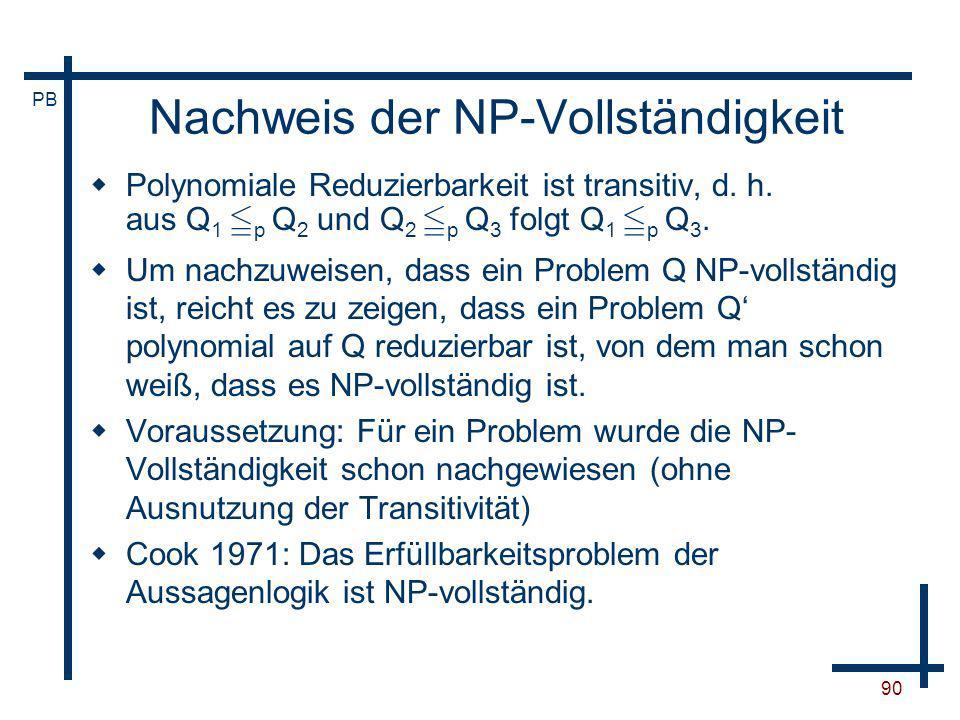 Nachweis der NP-Vollständigkeit