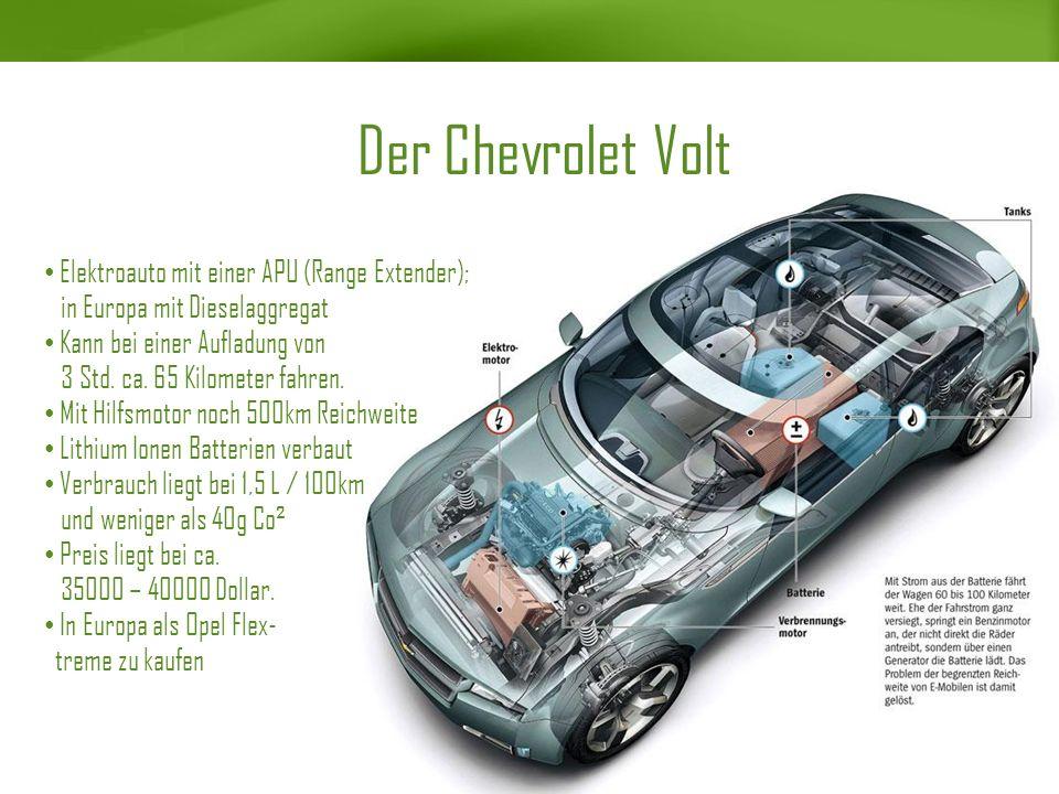 Der Chevrolet Volt Elektroauto mit einer APU (Range Extender);