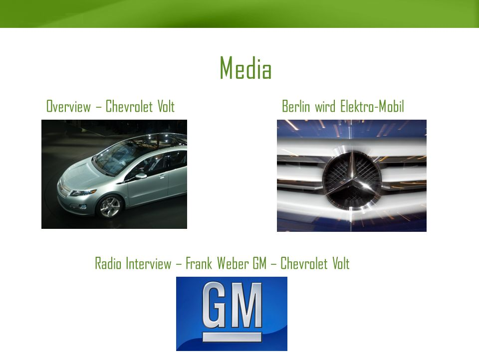 Media Overview – Chevrolet Volt Berlin wird Elektro-Mobil