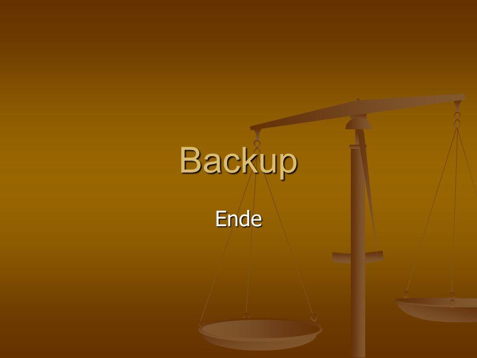 Backup Ende