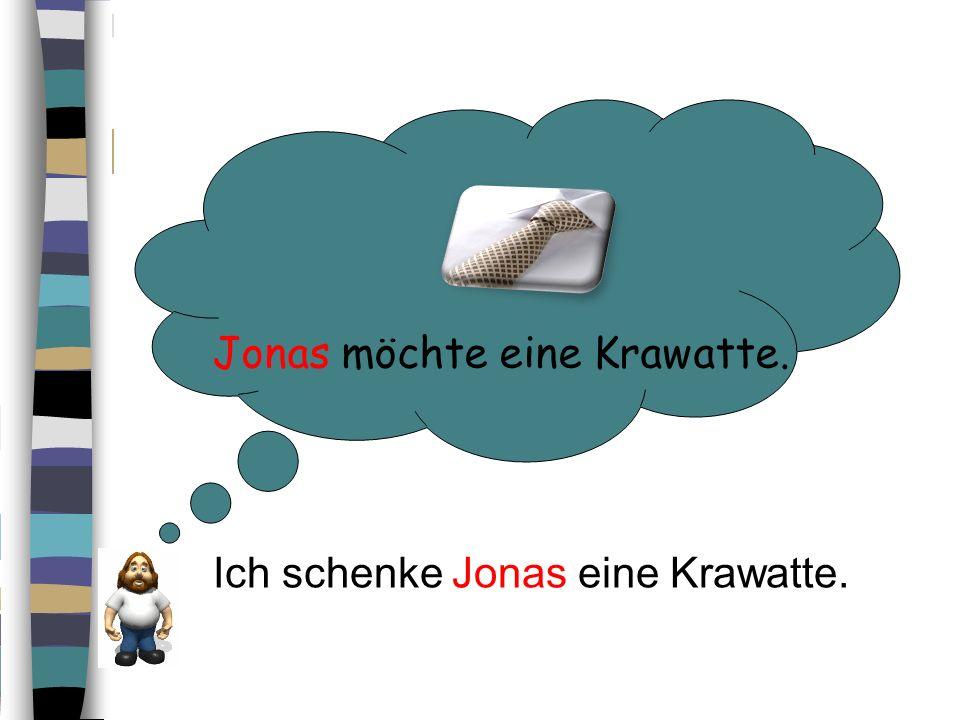 Jonas möchte eine Krawatte.