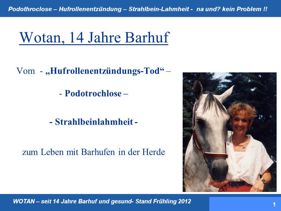 """Wotan, 14 Jahre Barhuf Vom - """"Hufrollenentzündungs-Tod – - Podotrochlose – - Strahlbeinlahmheit - zum Leben mit Barhufen in der Herde"""
