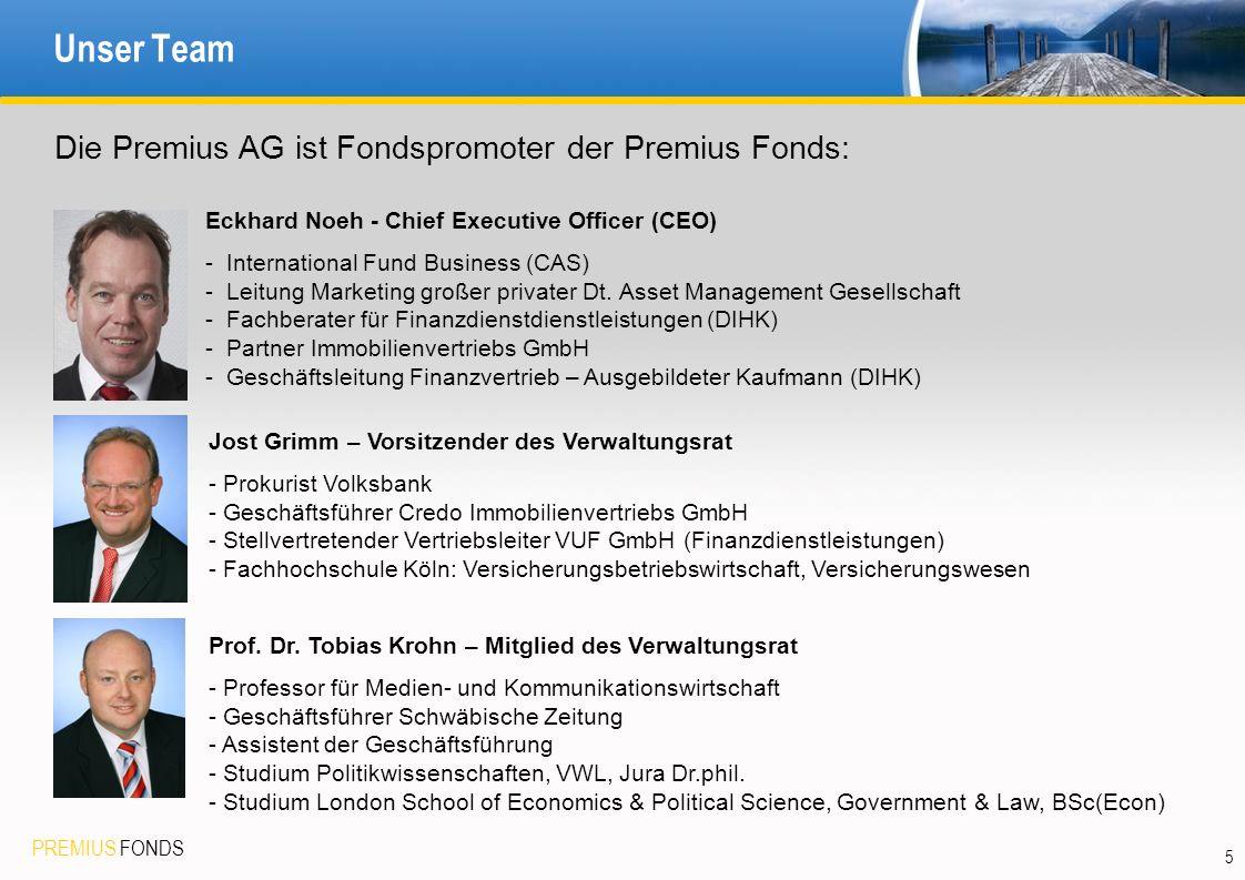 Unser Team Die Premius AG ist Fondspromoter der Premius Fonds: