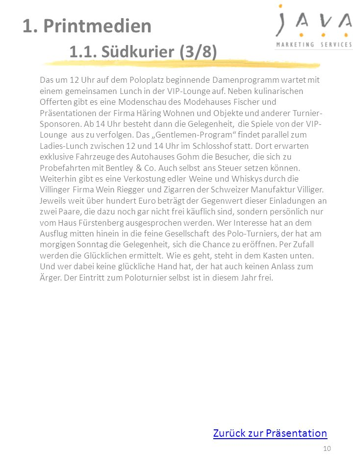 1. Printmedien 1.1. Südkurier (3/8)