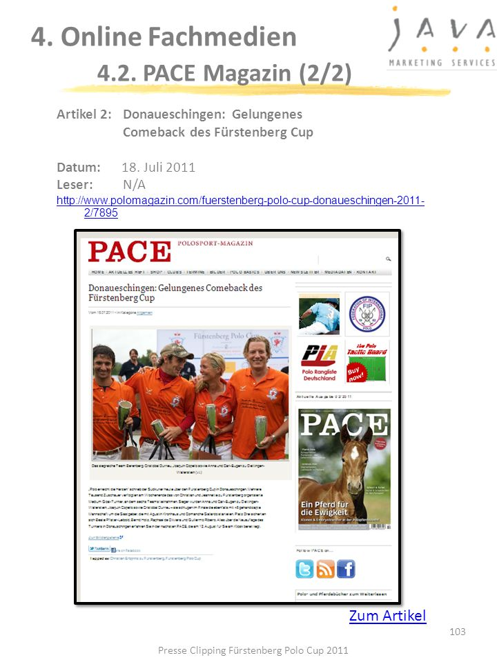 4. Online Fachmedien 4.2. PACE Magazin (2/2)