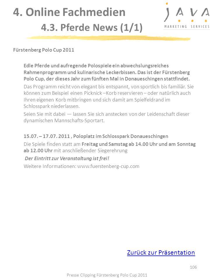 4. Online Fachmedien 4.3. Pferde News (1/1)
