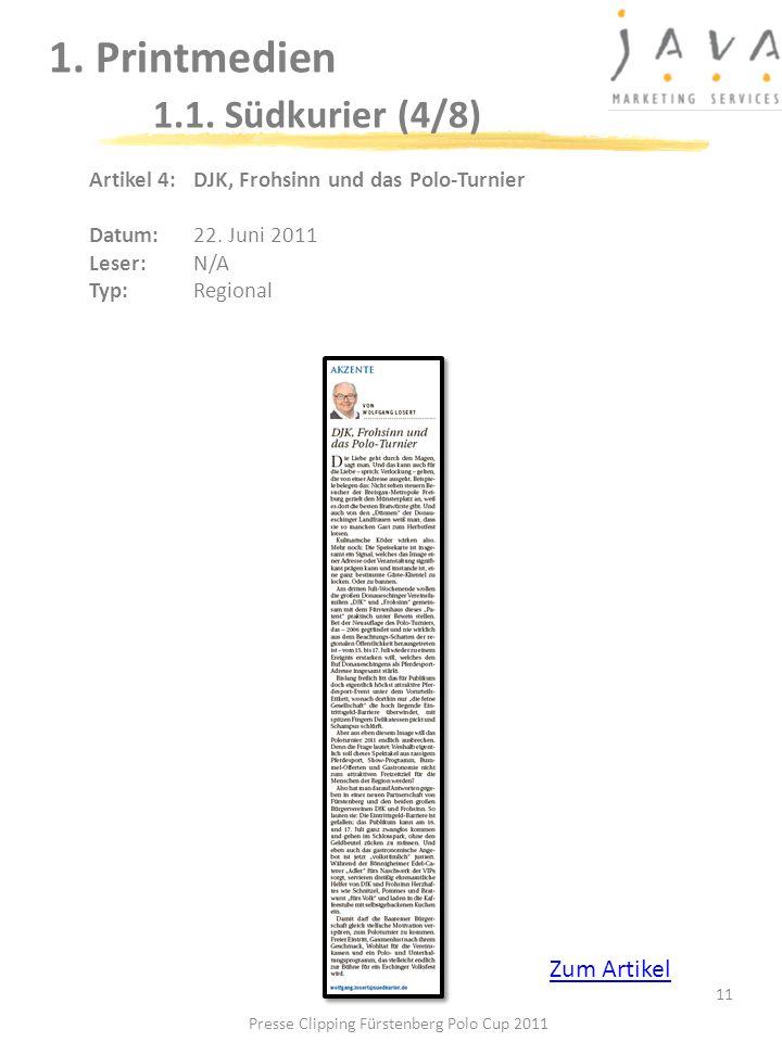 1. Printmedien 1.1. Südkurier (4/8)