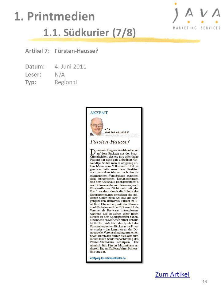 1. Printmedien 1.1. Südkurier (7/8)