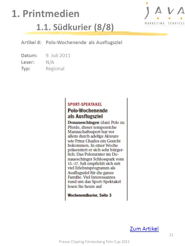 1. Printmedien 1.1. Südkurier (8/8)