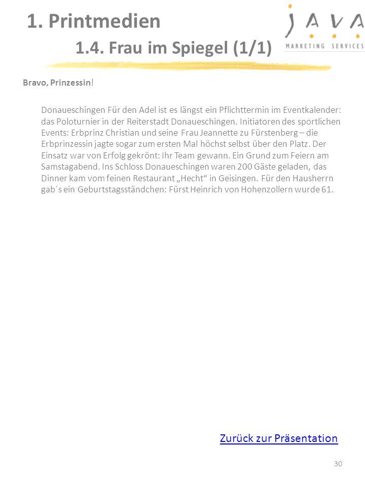 1. Printmedien 1.4. Frau im Spiegel (1/1)