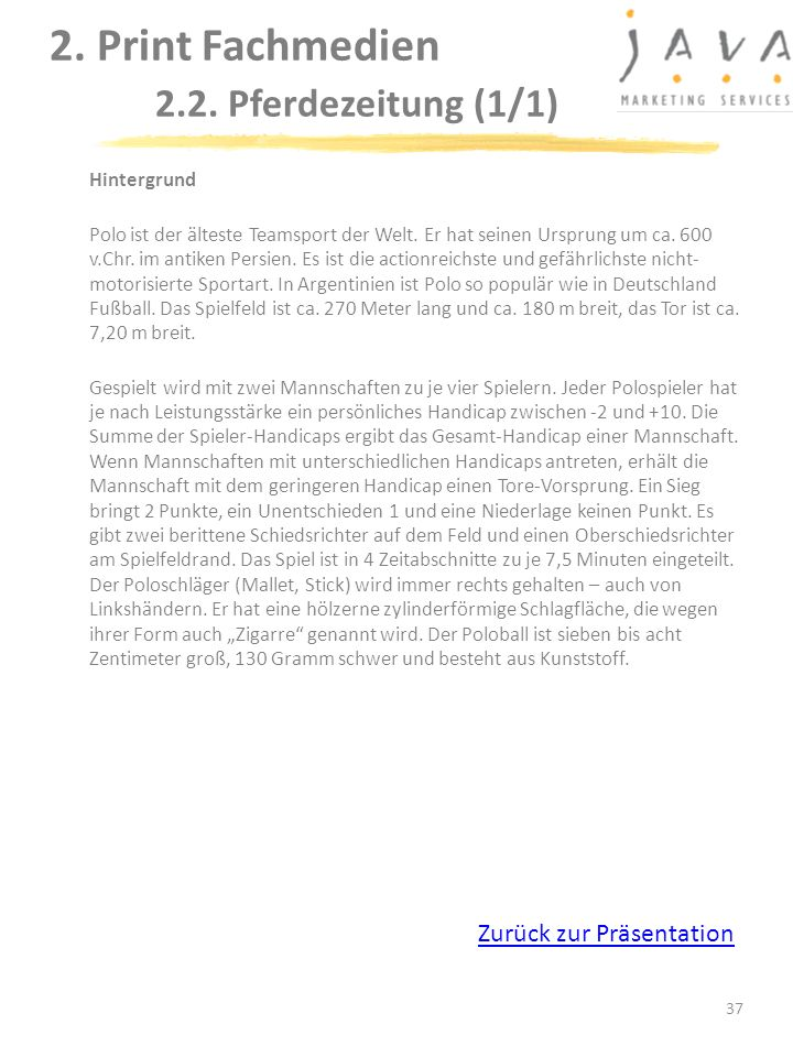 2. Print Fachmedien 2.2. Pferdezeitung (1/1)