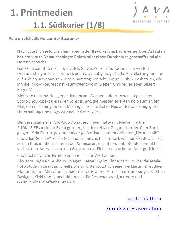 1. Printmedien 1.1. Südkurier (1/8)