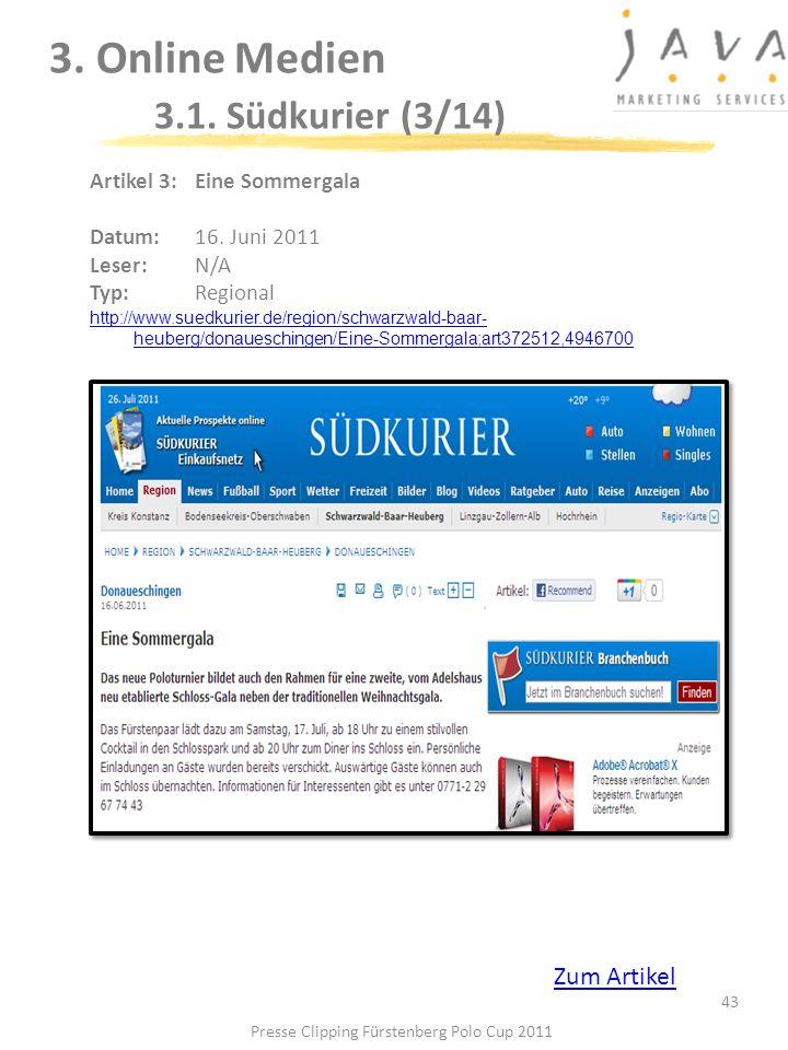3. Online Medien 3.1. Südkurier (3/14)