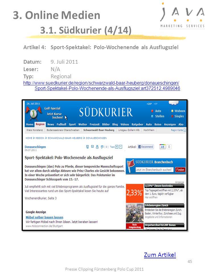 3. Online Medien 3.1. Südkurier (4/14)