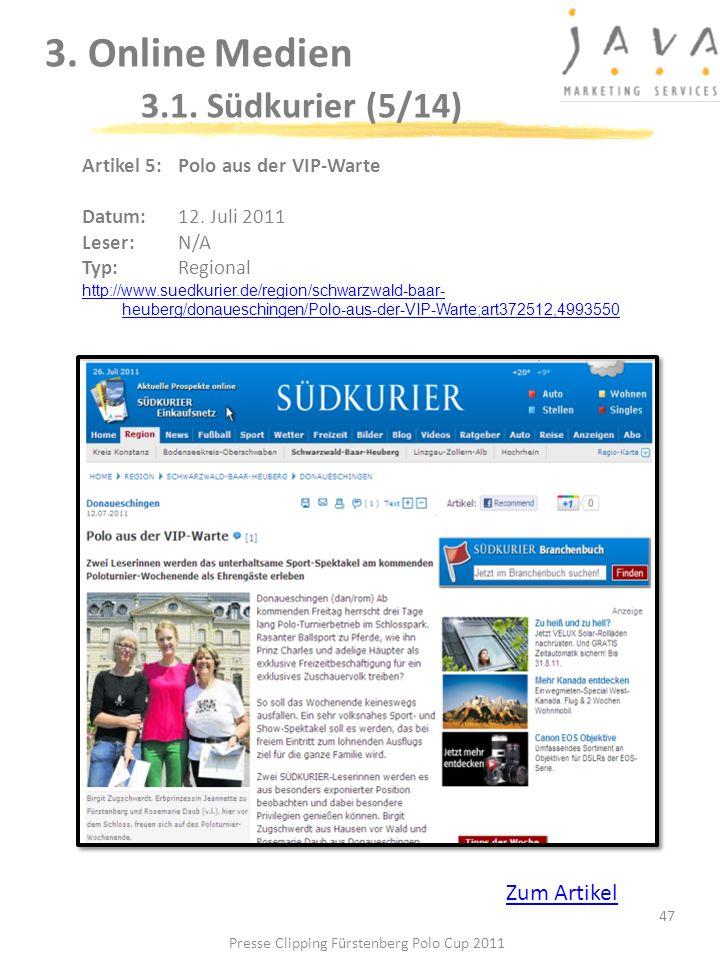 3. Online Medien 3.1. Südkurier (5/14)