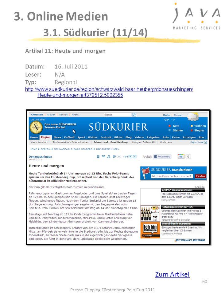 3. Online Medien 3.1. Südkurier (11/14)
