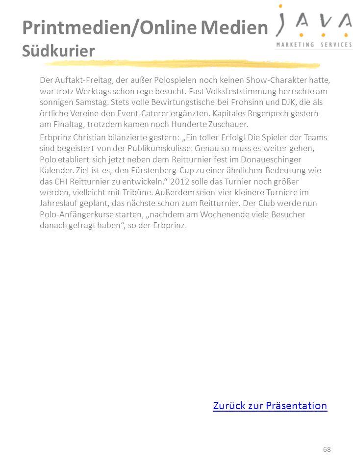 Printmedien/Online Medien Südkurier