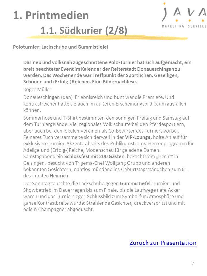 1. Printmedien 1.1. Südkurier (2/8)