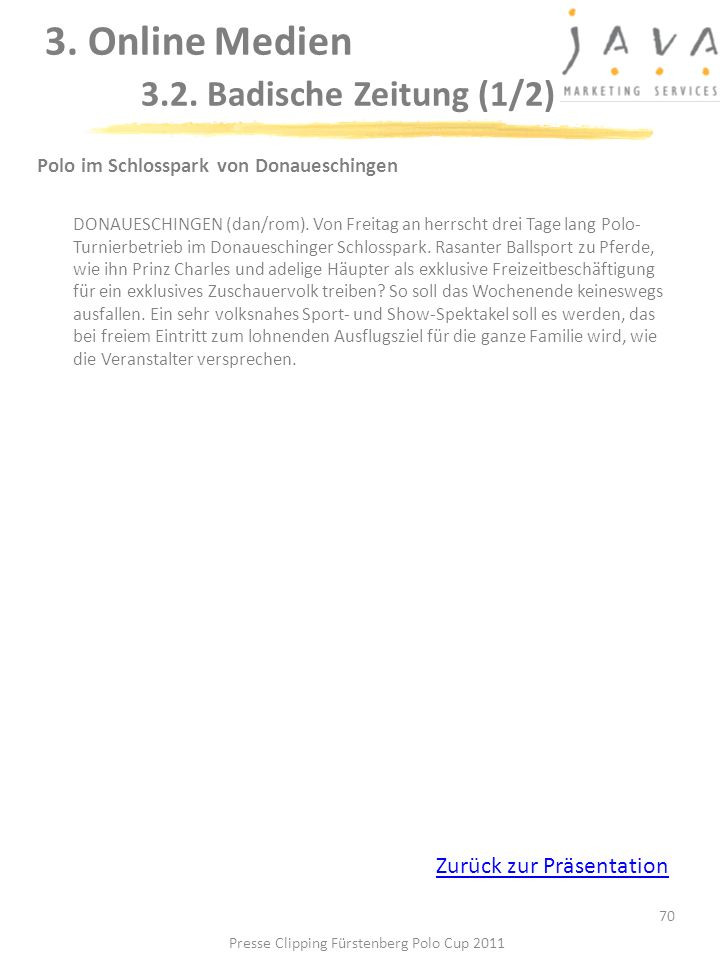 3. Online Medien 3.2. Badische Zeitung (1/2)