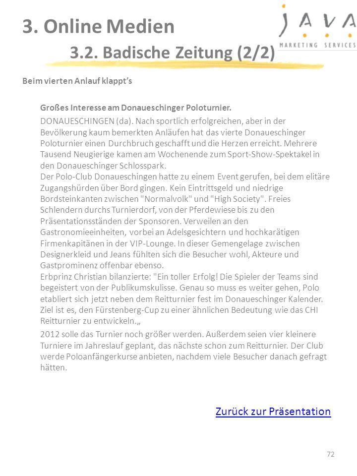3. Online Medien 3.2. Badische Zeitung (2/2)