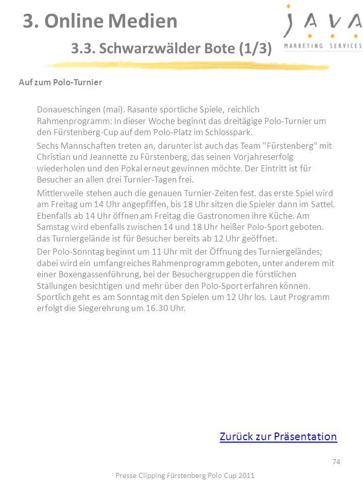 3. Online Medien 3.3. Schwarzwälder Bote (1/3)