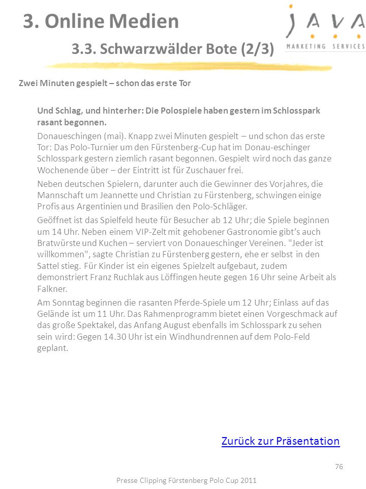 3. Online Medien 3.3. Schwarzwälder Bote (2/3)