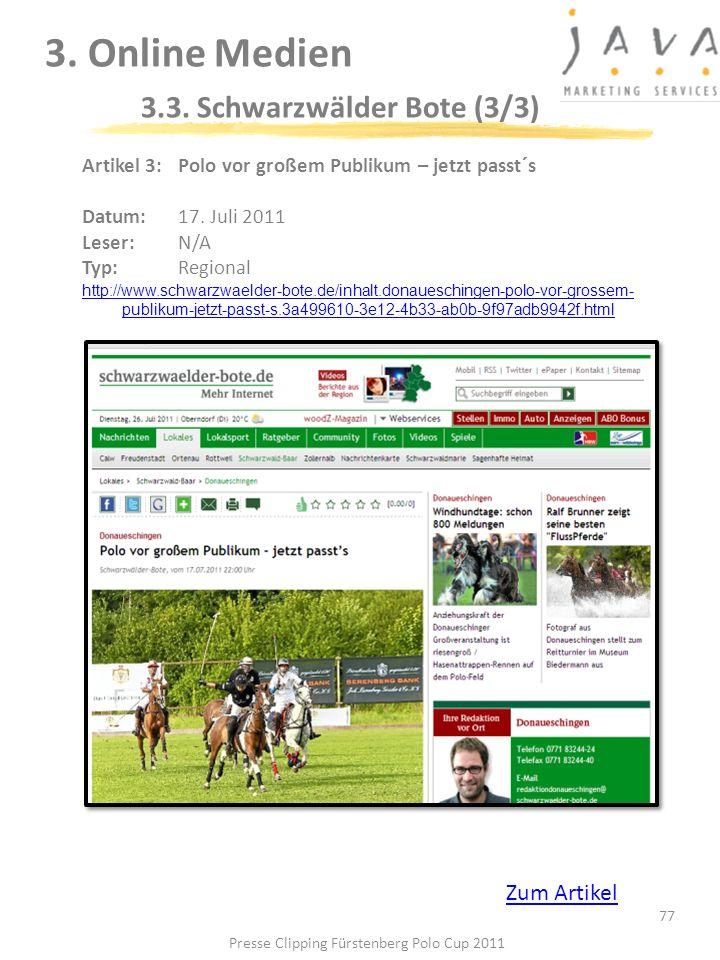 3. Online Medien 3.3. Schwarzwälder Bote (3/3)