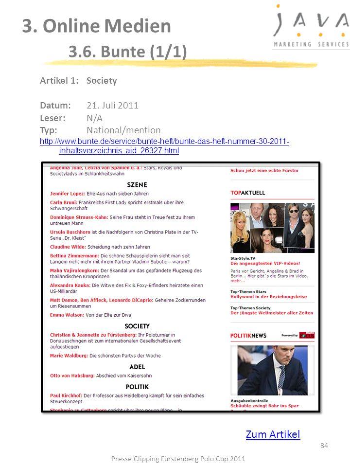 3. Online Medien 3.6. Bunte (1/1)