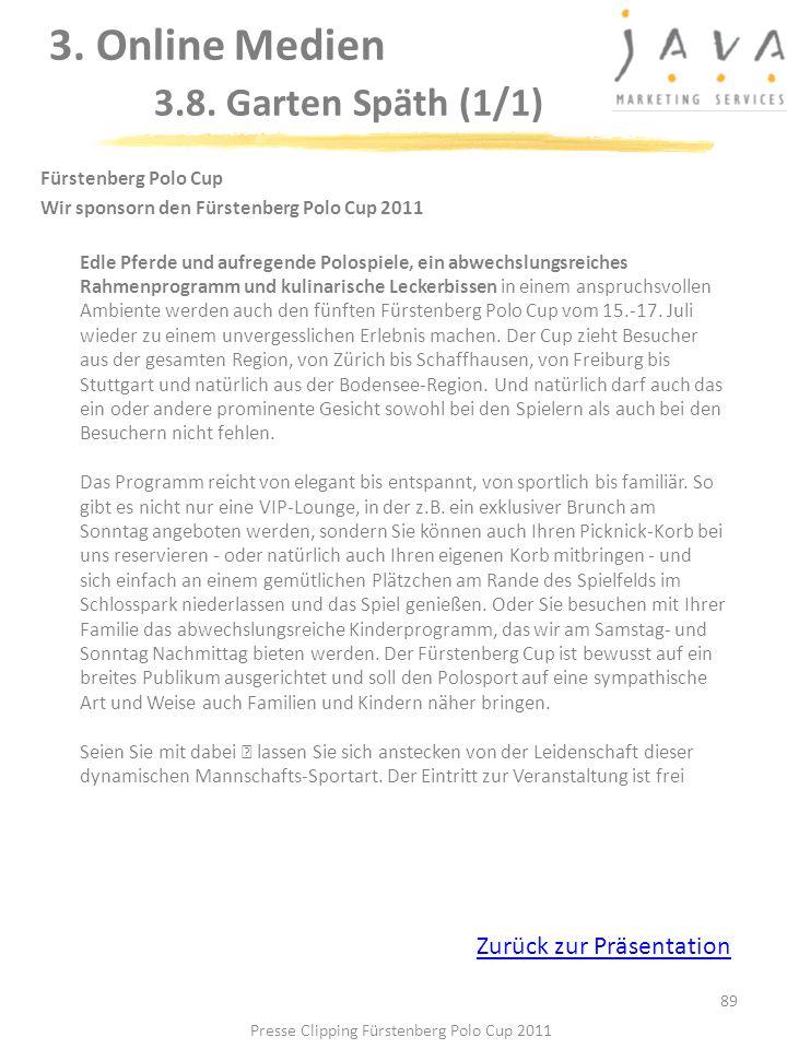 3. Online Medien 3.8. Garten Späth (1/1)